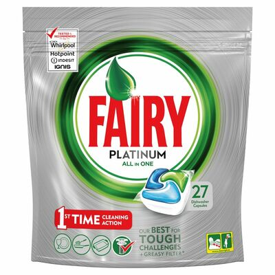 Fairy Platinum Original Dishwasher Tablets 27pce
