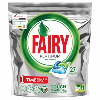 Fairy Platinum Dishwasher Tablet Original 27pce