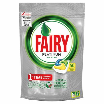 Fairy Platinum Lemon 50pce