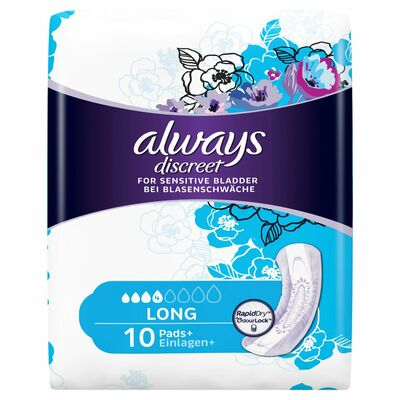 Always Discreet Long Pads 10pce