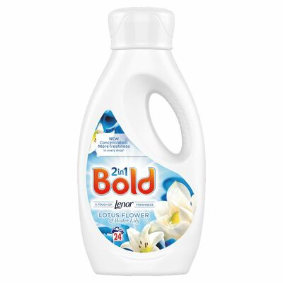 Bold 2In1 Liquid Lotus & Lily 24 Wash 840ml