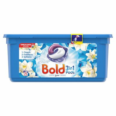 Bold 2In1 Pearls White Lily & Lotus 25pce