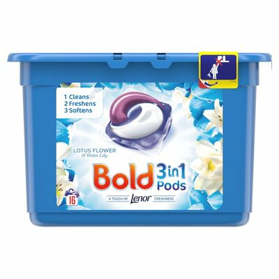 Bold 2In1 Lotus & Lily Pods 16pce