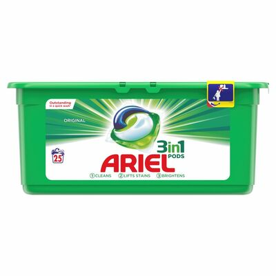 Ariel 3In1 Regular Pods 25pce