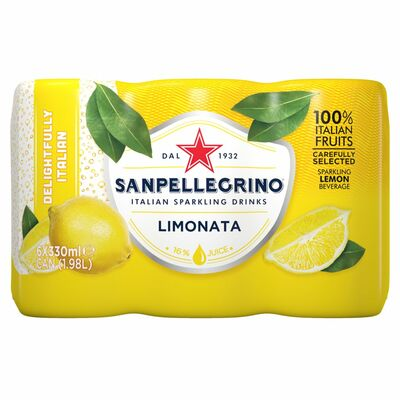 San Pellegrino Lemon Fruit Can Pack 6 x 330ml