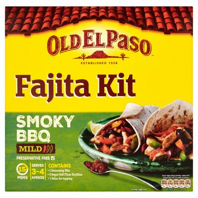 Old El Paso Original Smokey BBQ Fajita Kit 500g