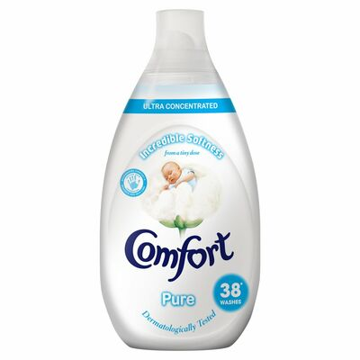 Comfort Fabric Conditioner Pure 38 Wash 570ml