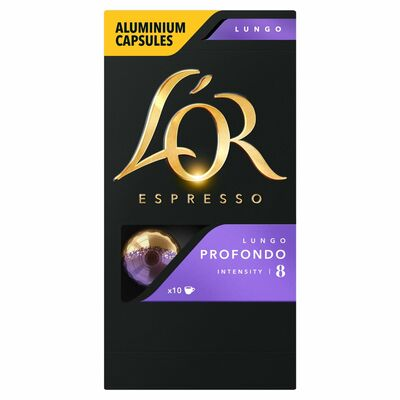 L'Or Lungo Profundo Intensity 8 Capsules 10 Pack 50g