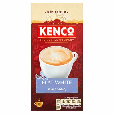 Kenco Flat White Coffee 8 Sachets 120g