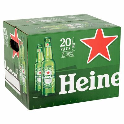 HEINEKEN BOTTLE PACK 20 X 330ML