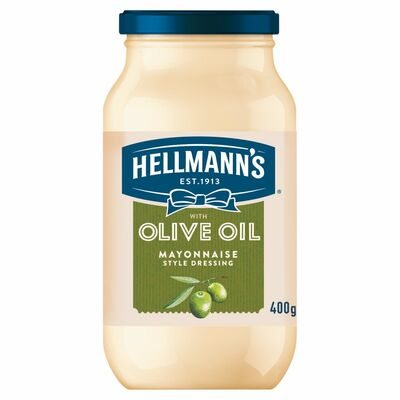 Hellmann's Mayonnaise Squeezy With Olive Oil 400g