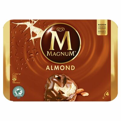 Magnum Almond 4 Pack 440ml
