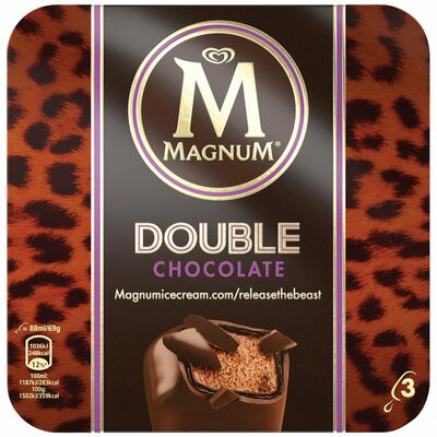 Magnum Double Chocolate 3 Pack 264ml