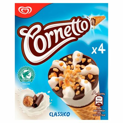 HB Cornetto Classic 4 Pack 360ml