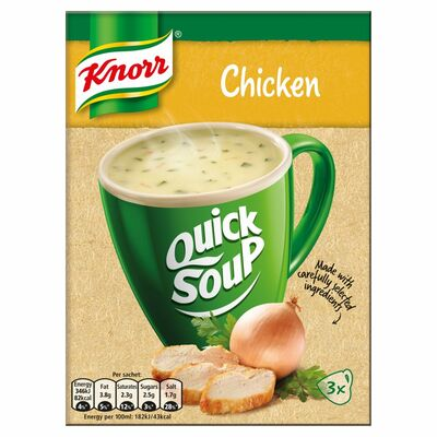 Knorr Quick Soup Chicken 3 Pack 51g