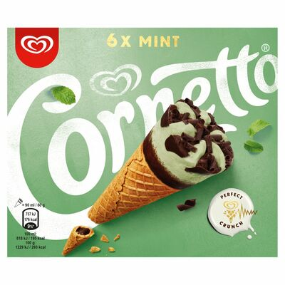 Cornetto Mint 6 Pack 540ml