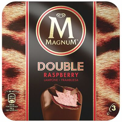 Magnum Double Raspberry 3 Pack 264ml