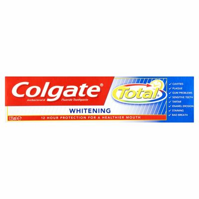 Colgate Toothpaste Total Advanced Whitening 125ml