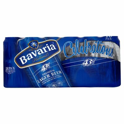 BAVARIA CROWN  CAN PACK 18X500ML