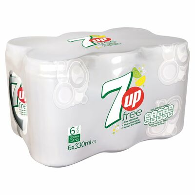 7up Free Can Pack 6 x 330ml