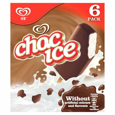 HB Choc Ice 6 Pack 540ml