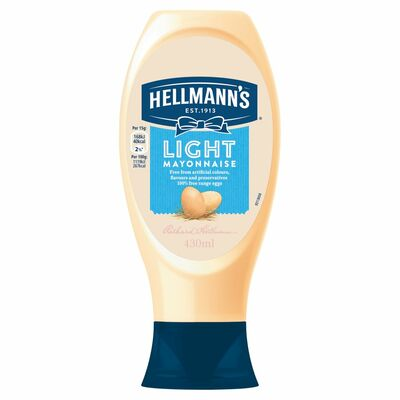 Hellmann's Mayonnaise Squeezy Light 430ml