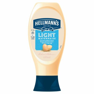 Hellmann's Light Mayonnaise Squeezy 430ml