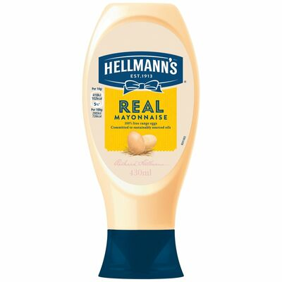 Hellmann's Real Mayonnaise Squeezy 430ml