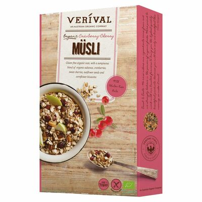 Verival Muesli Cranberry And Cherry 300g