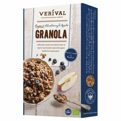 Verival Granola Blueberry And Apple 325g