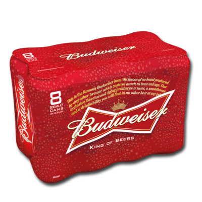 BUDWEISER CAN 8 X 500ML