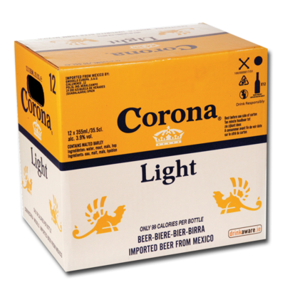 CORONA LIGHT BOTTLE PACK 12X355ML