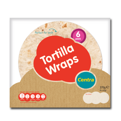 Centra Large Wraps 6 Pack 370g