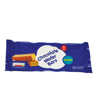 Centra Chocolate Wafer Bars  9 Pack 172g