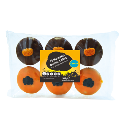 Centra Halloween Queencakes 6 Pack 140g