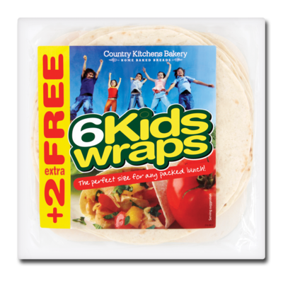 Fitzgeralds Family Bakery 6 Soft Kids Wraps Plus 2 Extra Free 320g