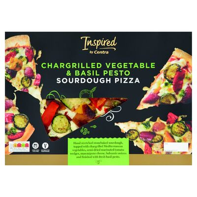 INSPIRED BY CENTRA CHARGRILLED VEGETABLE & BASIL PESTO PIZZA 570G