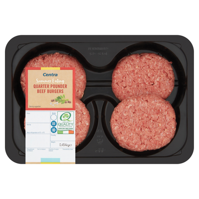 CENTRA FRESH IRISH QUARTER POUNDERS 4'S 454G