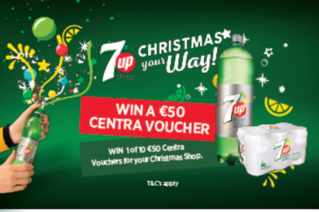 WIN 1 of 10 €50 Centra Vouchers for your Christmas Shop