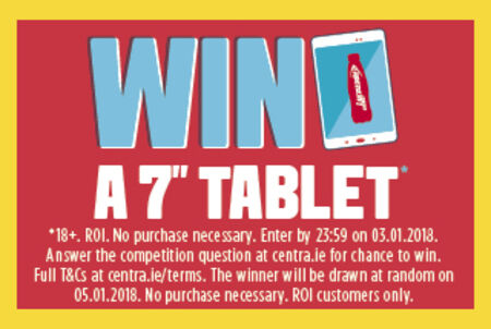"WIN a top of the range 7"" tablet with Lucozade Energy"