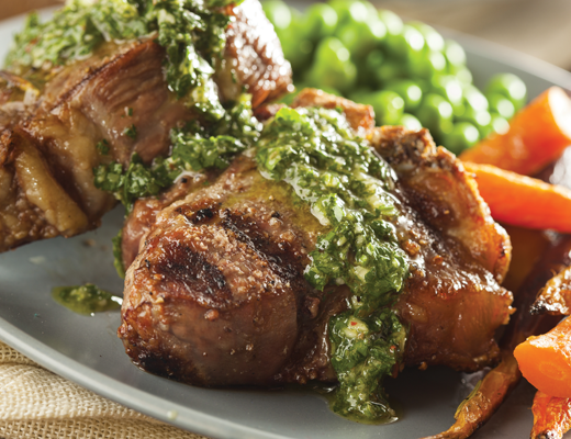 ... Food » Recipe Ideas » Dinner » Lamb Loin Chops with Salsa Verde