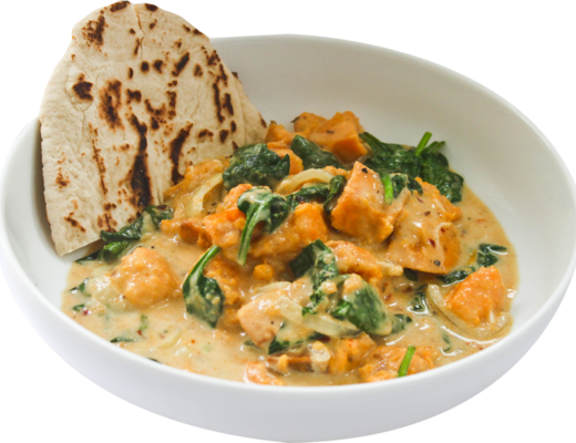 Sweet potato spinach curry