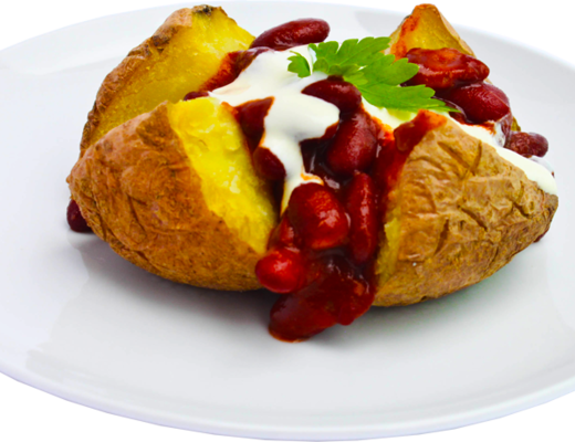 Baked Potato with Chilli Beans