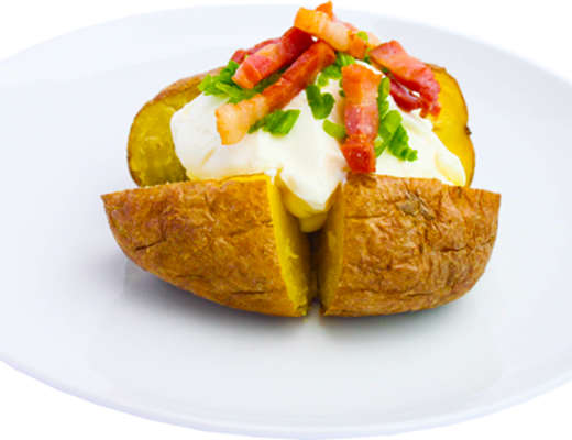 Baked Potato with Philadelphia and Bacon