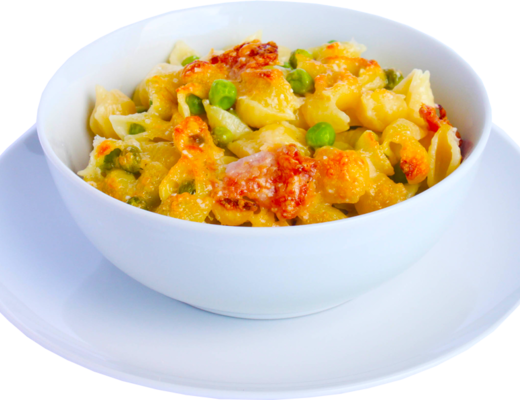 Mac Cheese and Peas