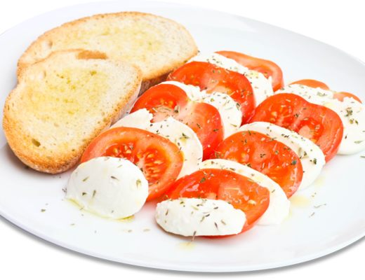 Caprese Salad with Garlic Toasts