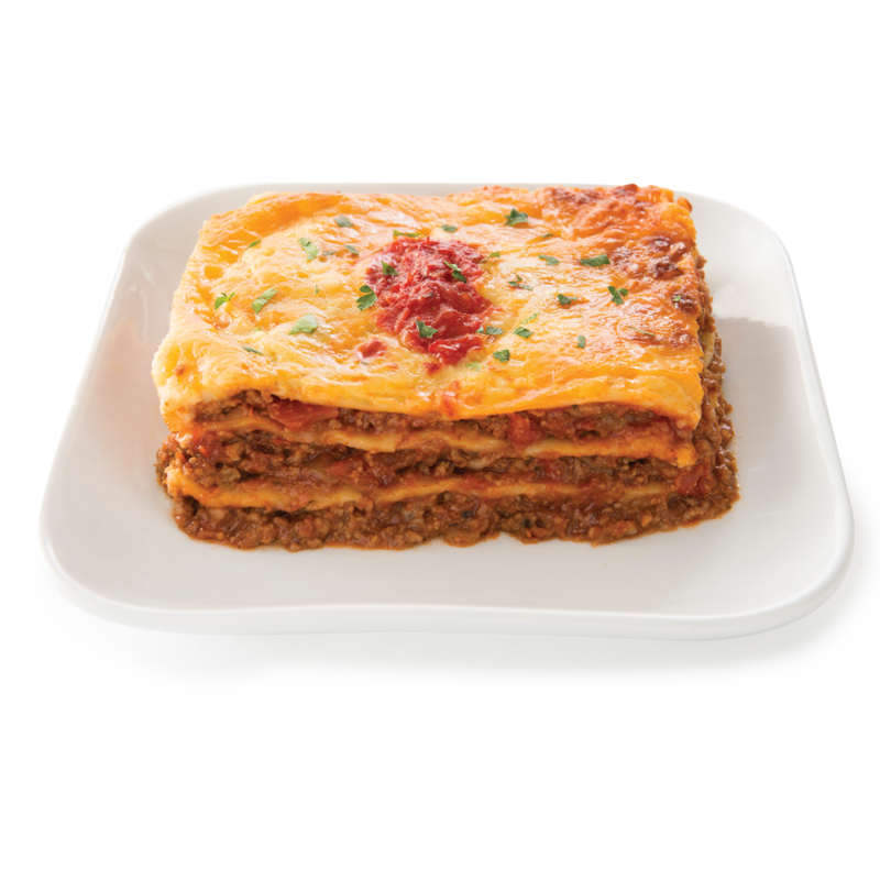 Centra lasagne on  a plate
