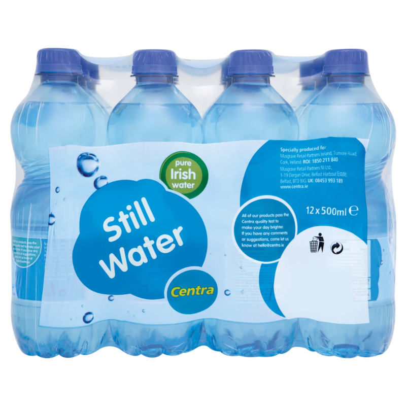 Centra Still Water Bottle Pack 12 x 500ml - Centra