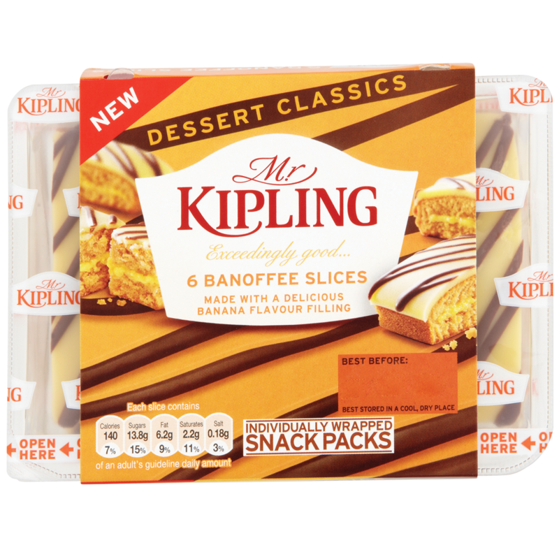 Mr.Kipling Exceedingly Good Banoffee Slices