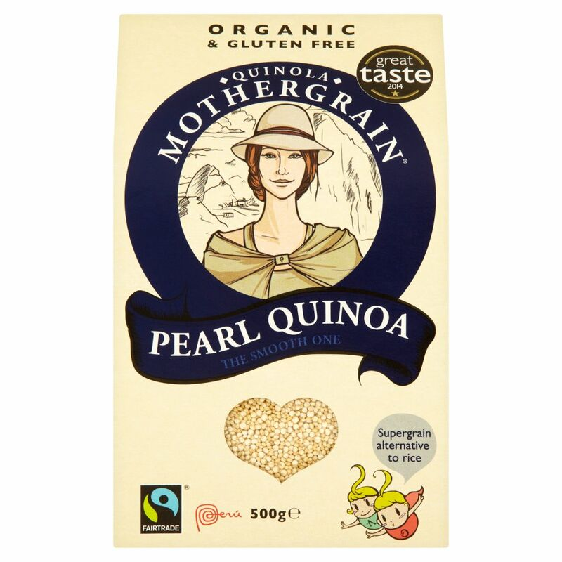Quinola Mothergrain Fairtrade Pearl Quinoa The Smooth One 500g